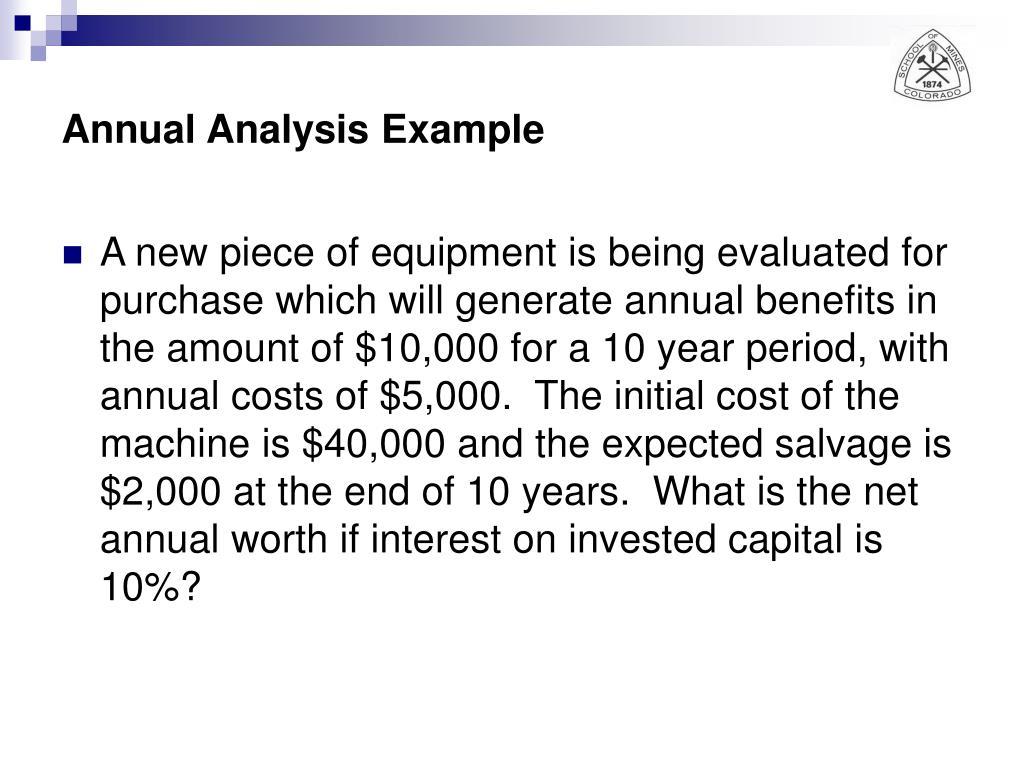 Annual Analysis Example