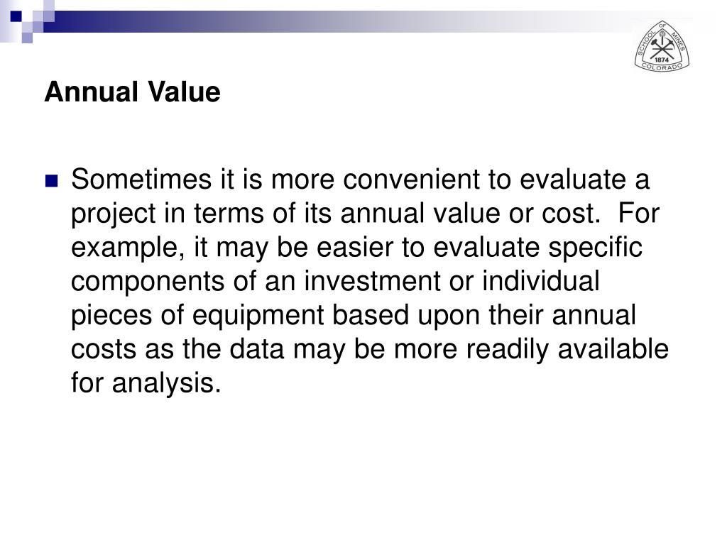 Annual Value