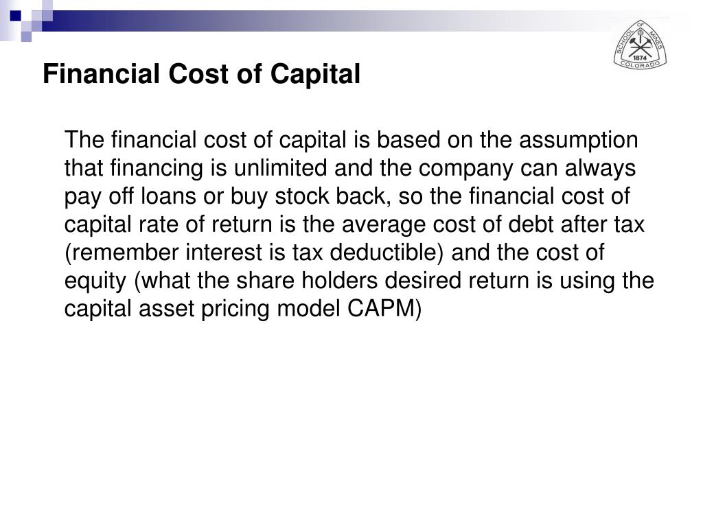 Financial Cost of Capital