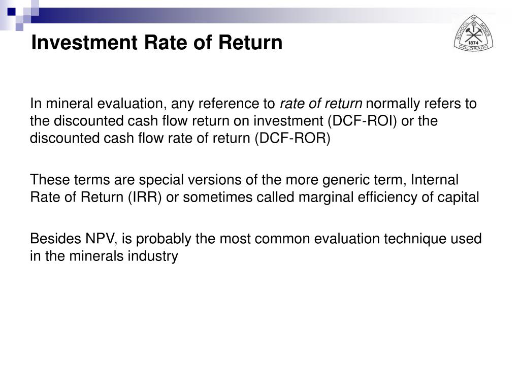 Investment Rate of Return