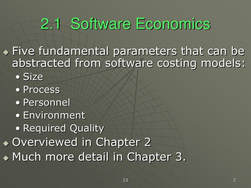 2.1  Software Economics