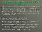 software economics parameters 1 of 4