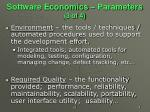 software economics parameters 3 of 4
