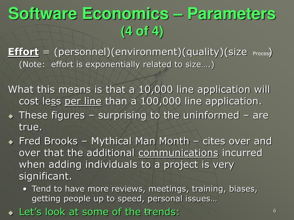 Software Economics – Parameters