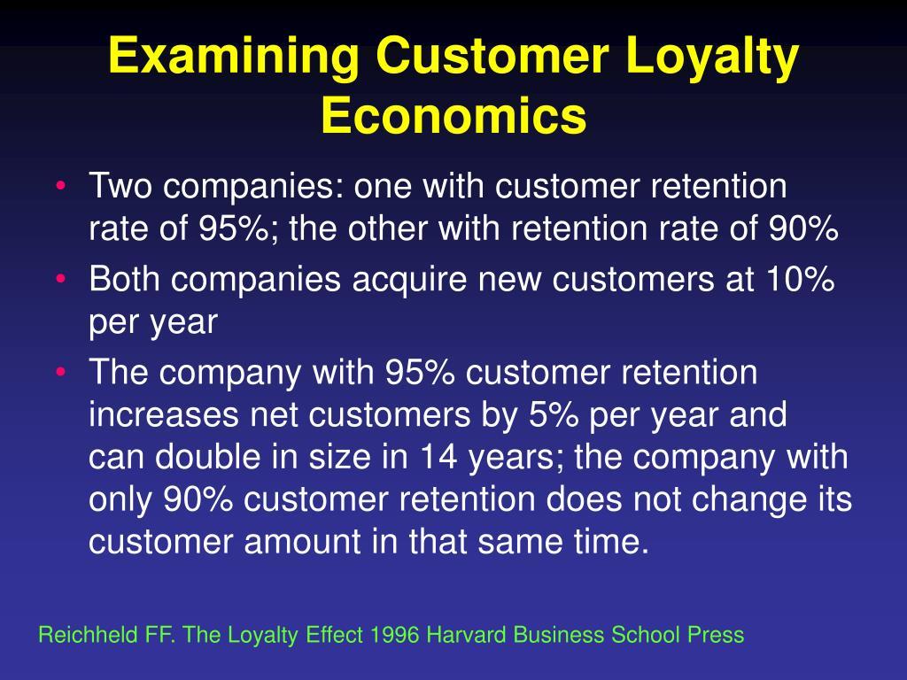 Examining Customer Loyalty Economics