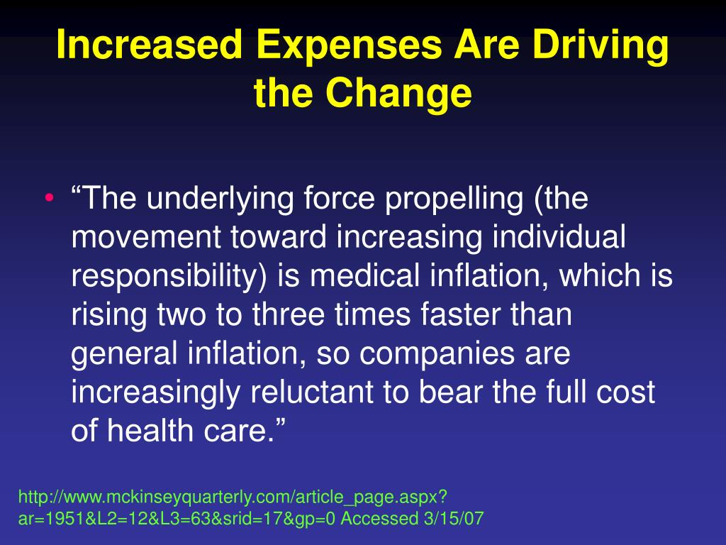 Increased Expenses Are Driving the Change