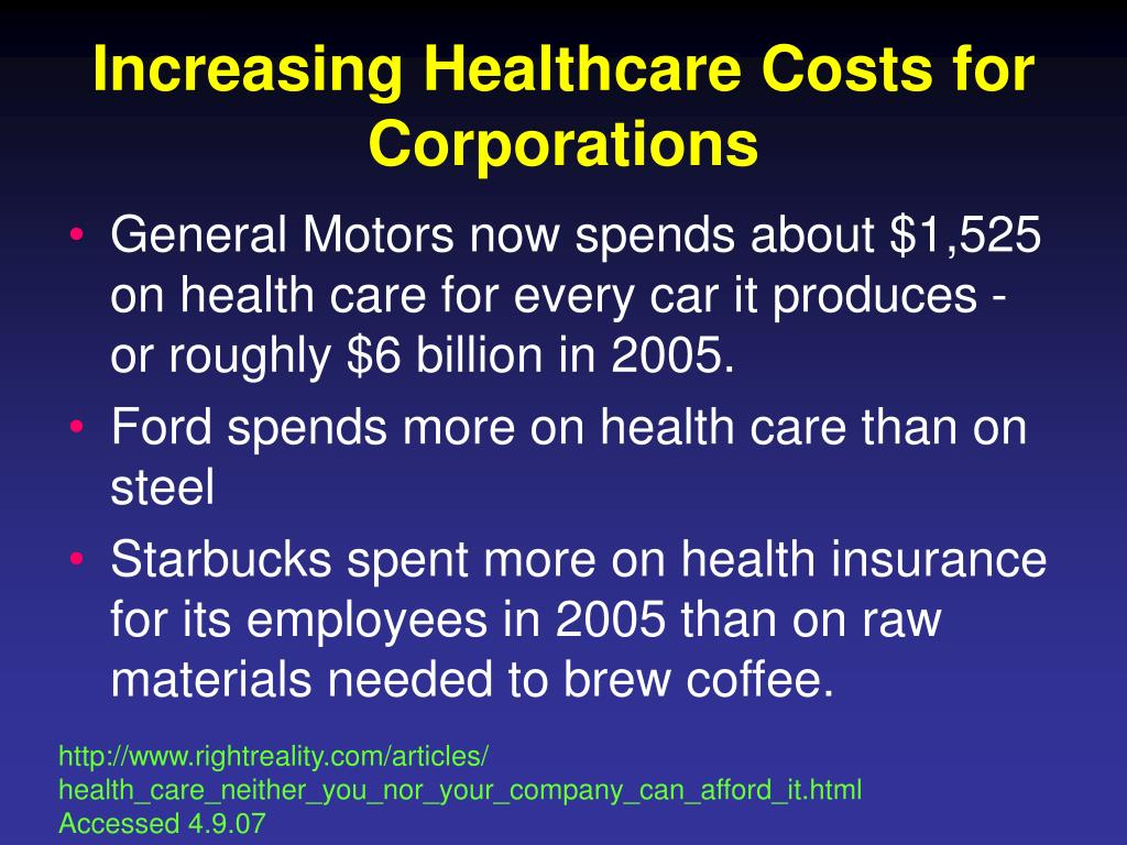 Increasing Healthcare Costs for Corporations