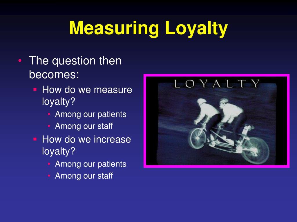 Measuring Loyalty