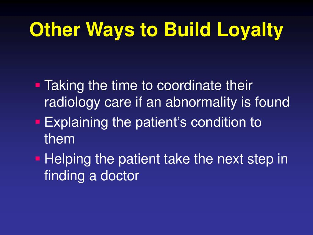 Other Ways to Build Loyalty