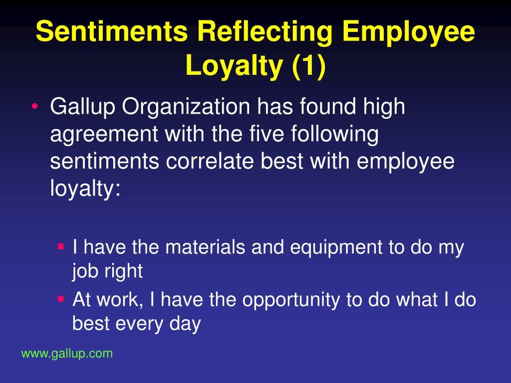 Sentiments Reflecting Employee Loyalty (1)