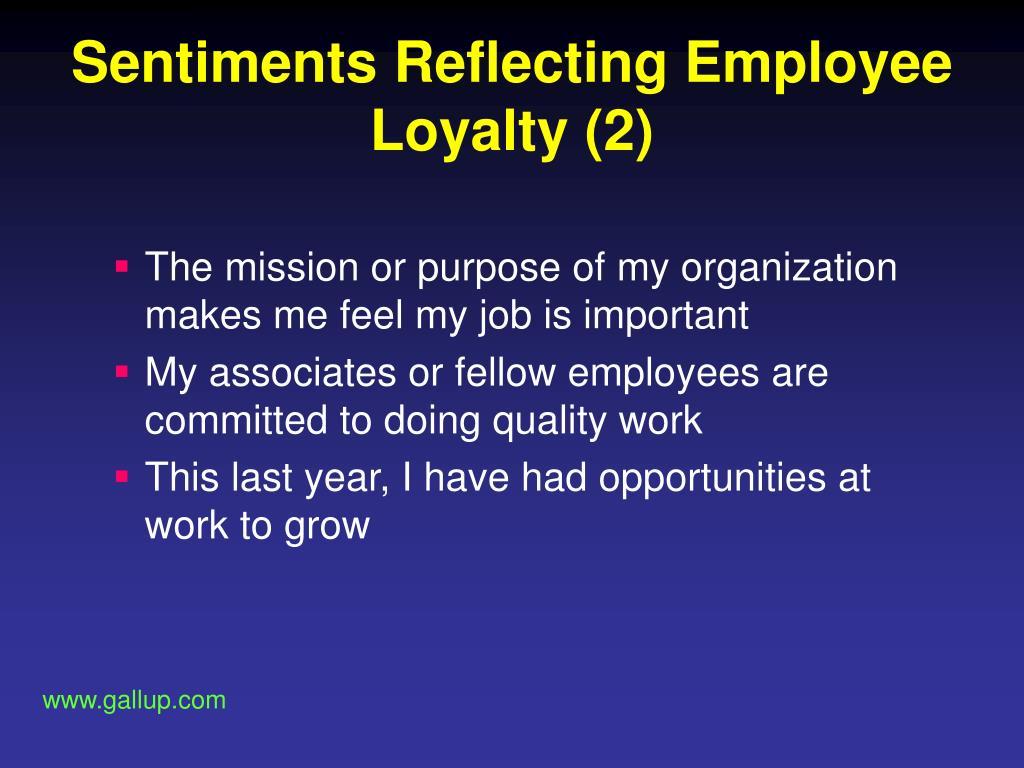 Sentiments Reflecting Employee Loyalty (2)