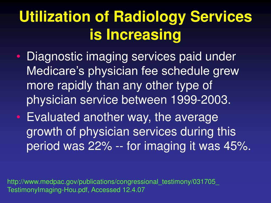 Utilization of Radiology Services is Increasing