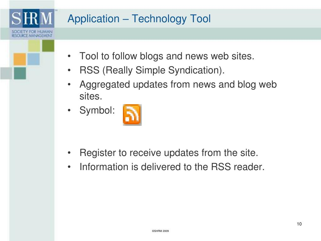 Application – Technology Tool