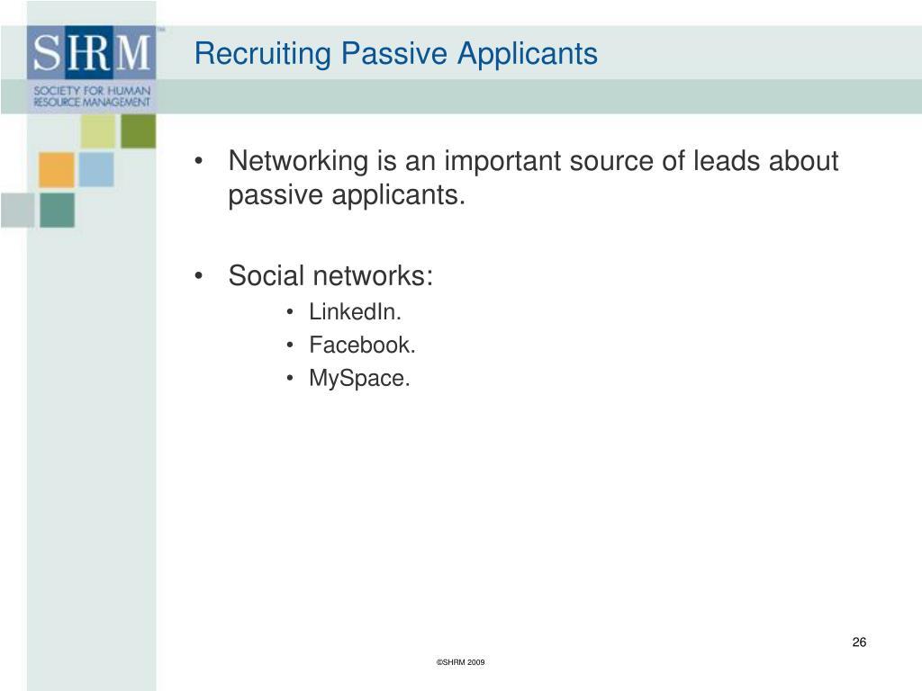 Recruiting Passive Applicants