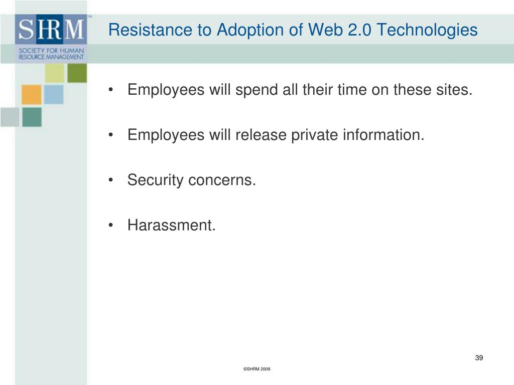 Resistance to Adoption of Web 2.0 Technologies