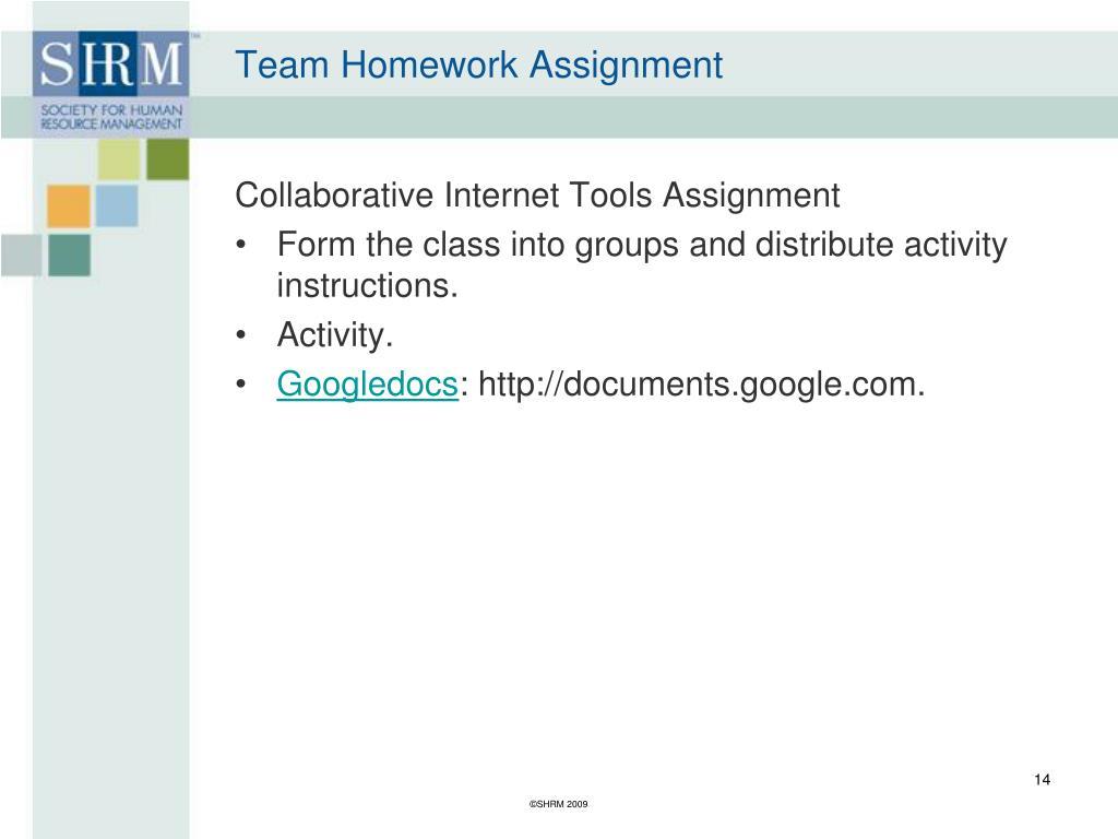 Team Homework Assignment
