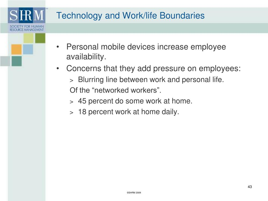 Technology and Work/life Boundaries