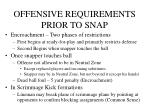 offensive requirements prior to snap7