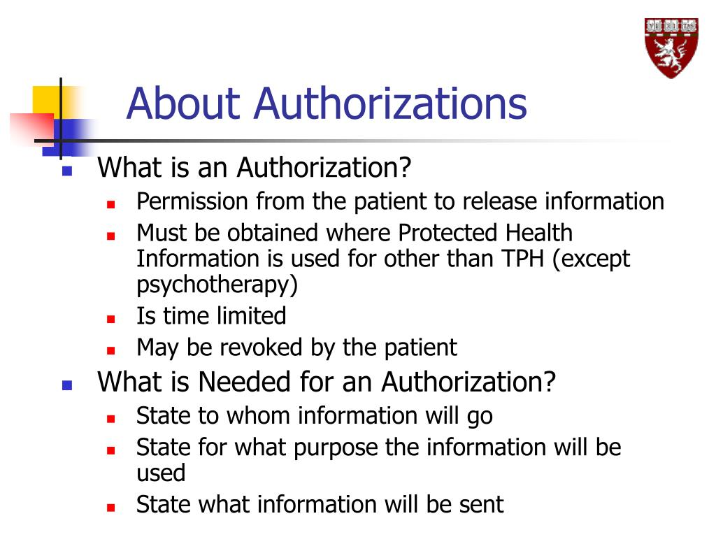 About Authorizations