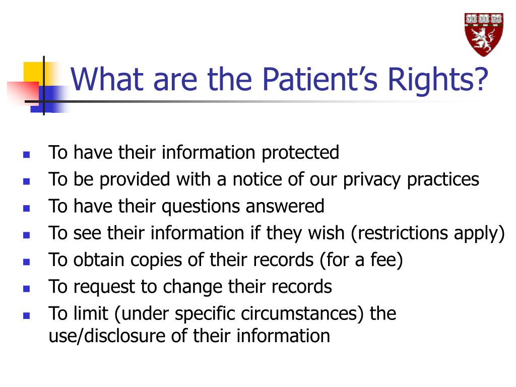 What are the Patient's Rights?
