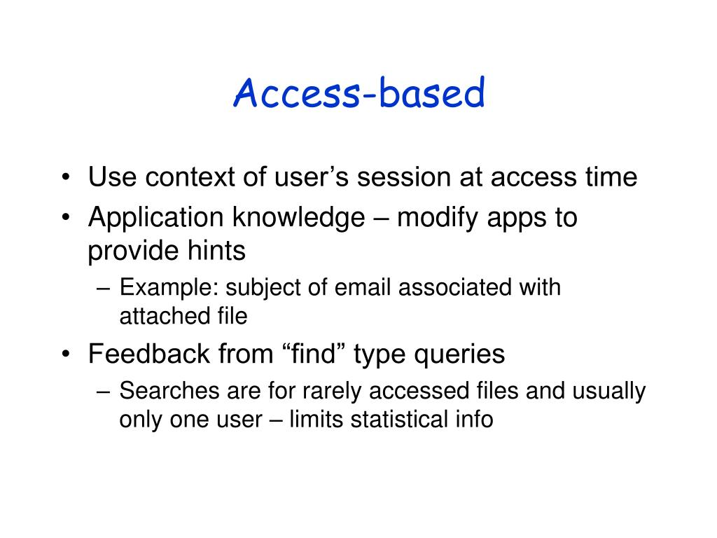 Access-based