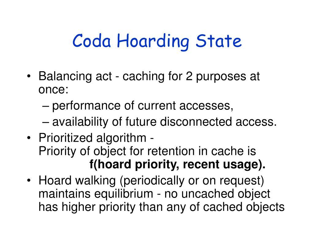 Coda Hoarding State
