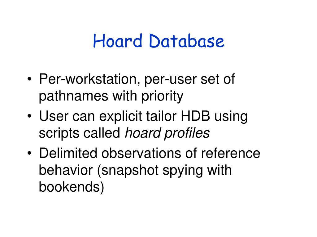 Hoard Database
