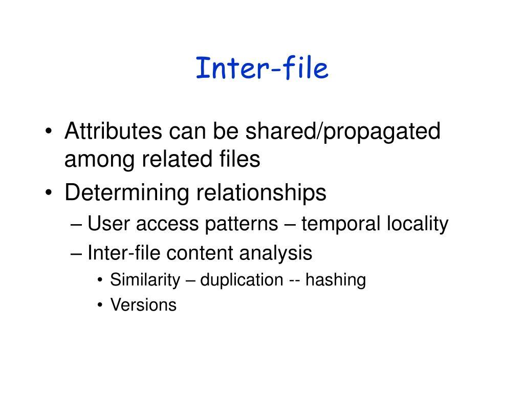 Inter-file
