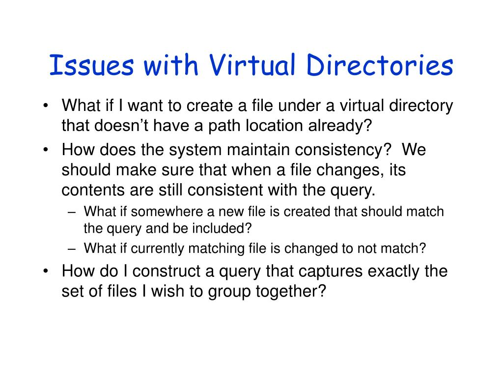 Issues with Virtual Directories
