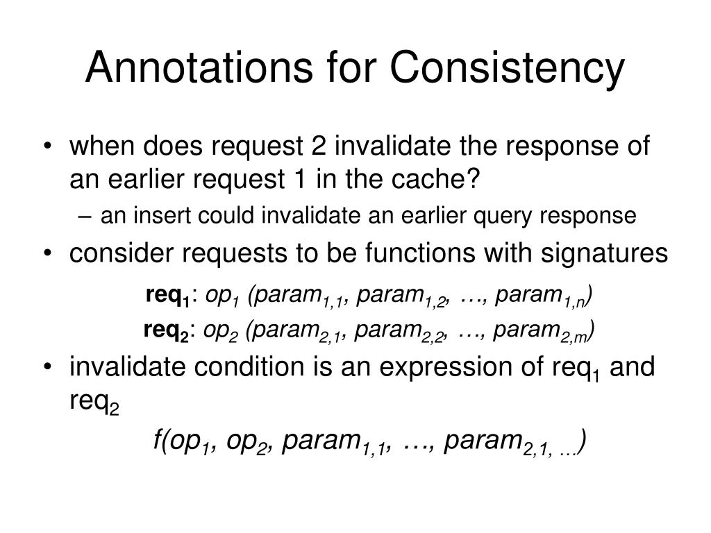 Annotations for Consistency