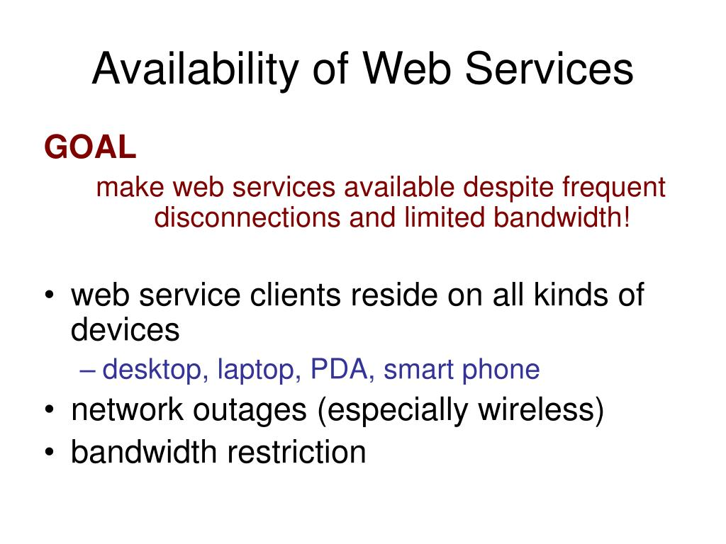 Availability of Web Services