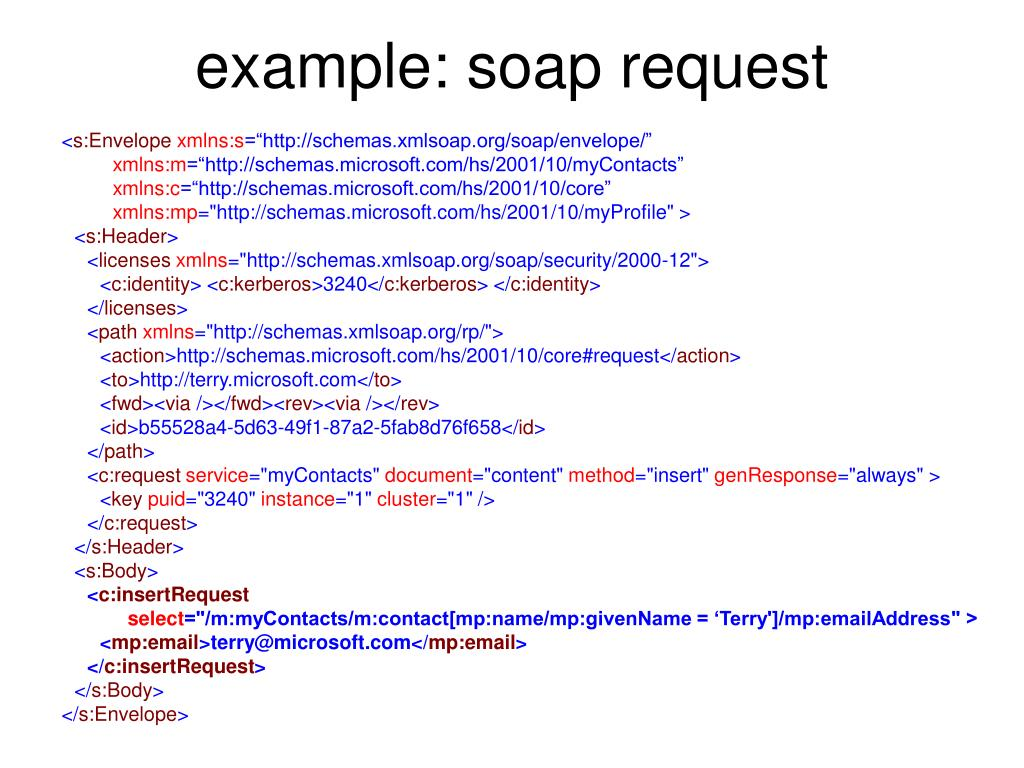 example: soap request
