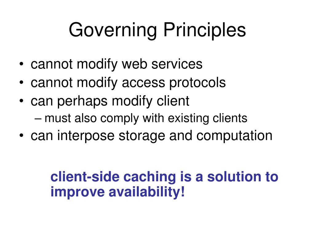 Governing Principles