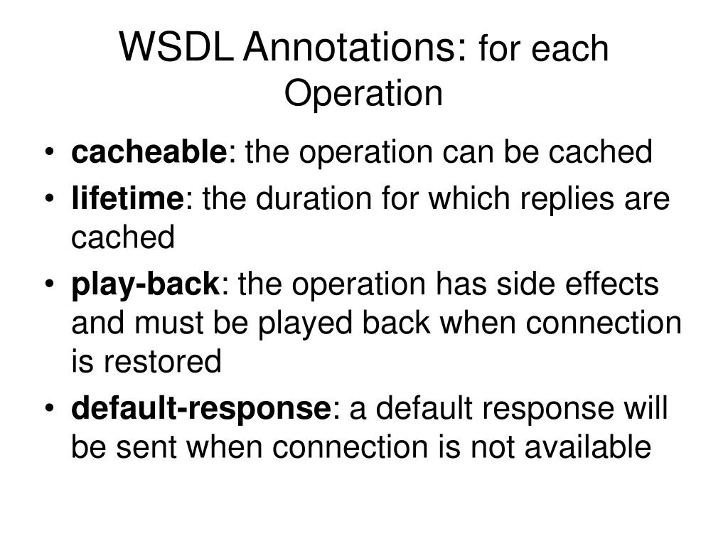 WSDL Annotations: