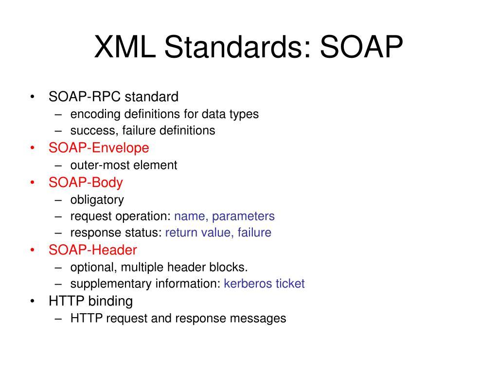XML Standards: SOAP