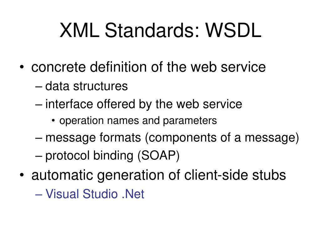 XML Standards: WSDL