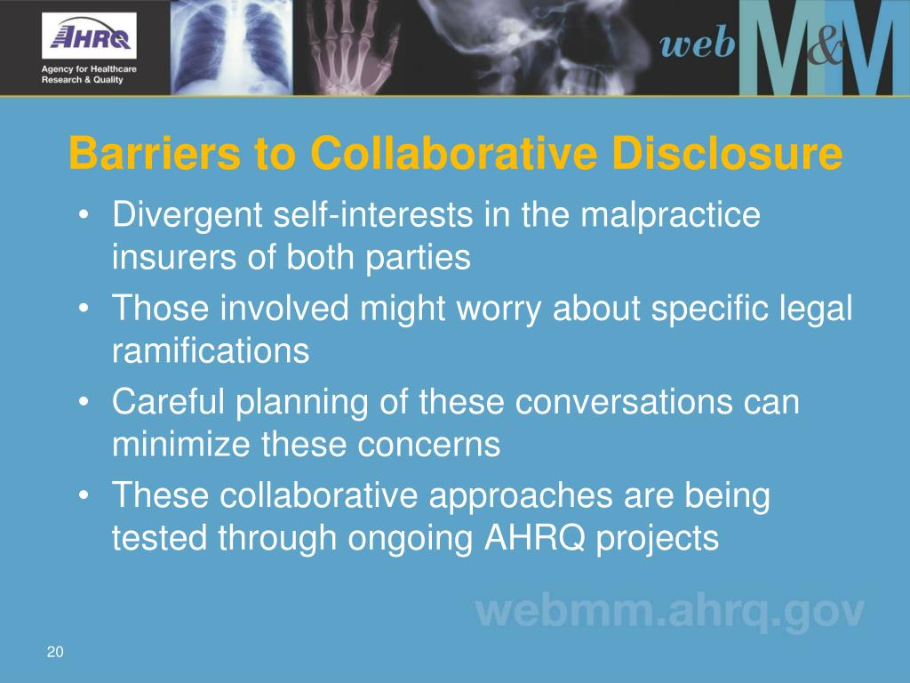 Barriers to Collaborative Disclosure
