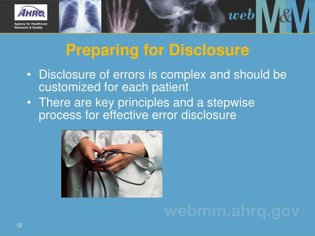 Preparing for Disclosure