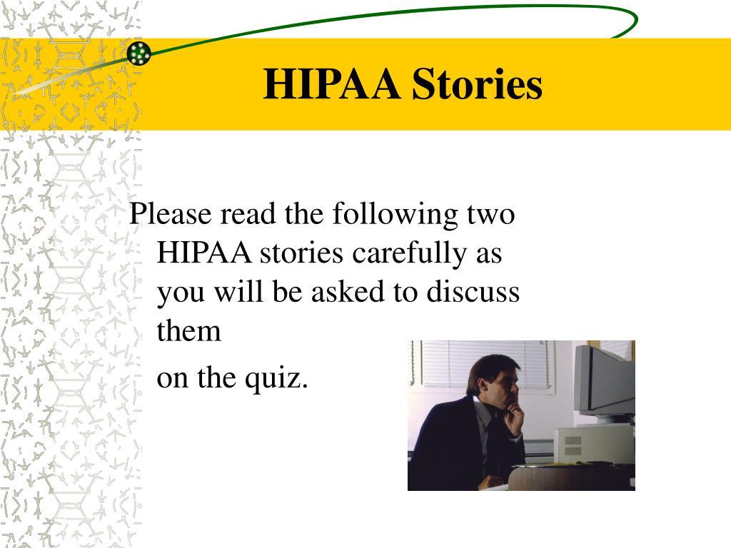 HIPAA Stories