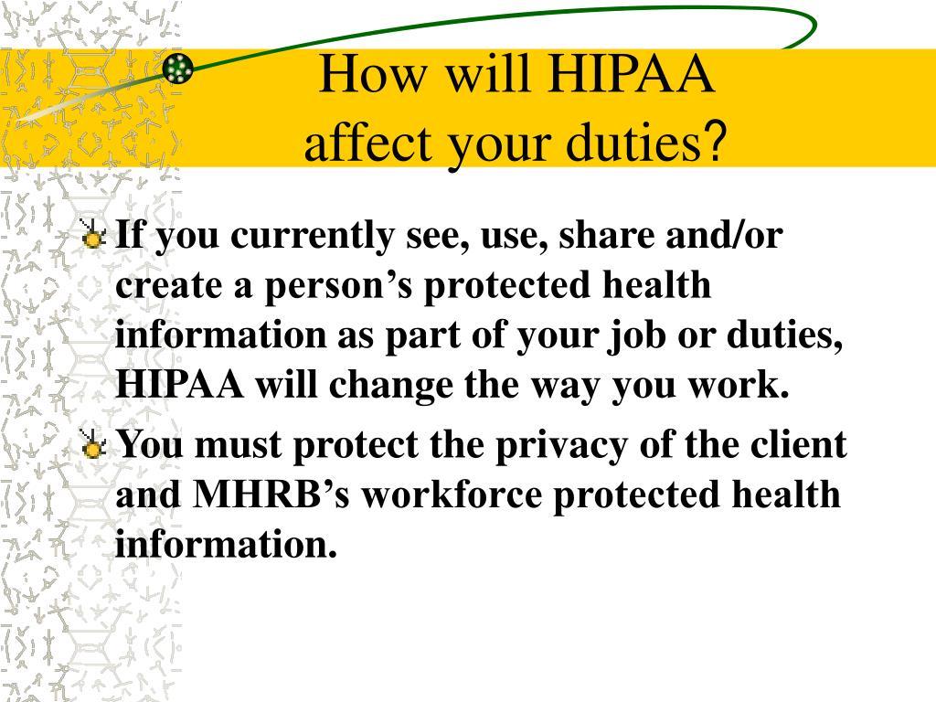 How will HIPAA