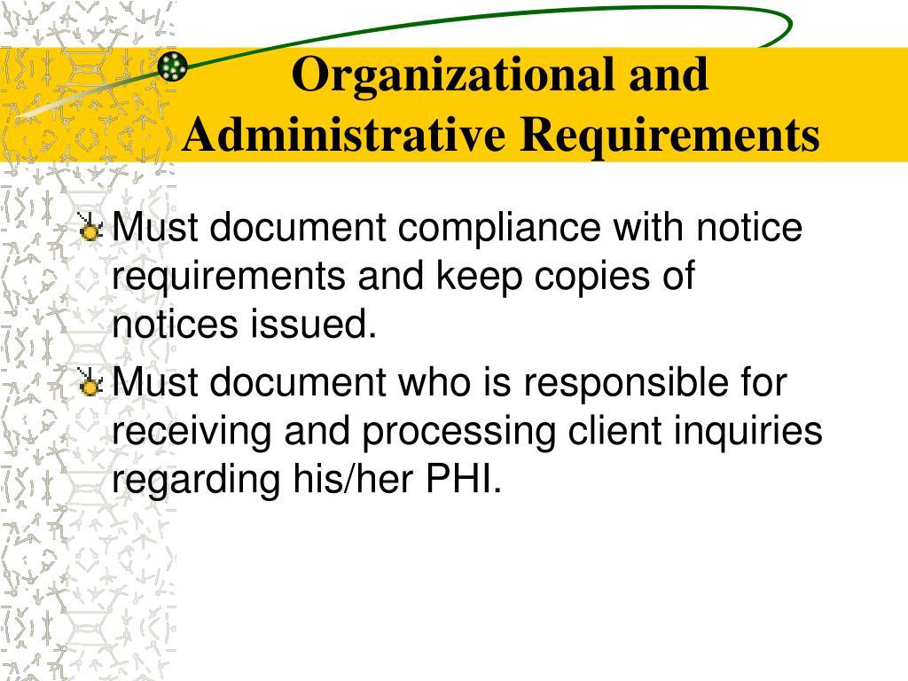 Organizational and