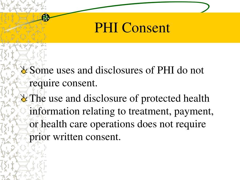PHI Consent
