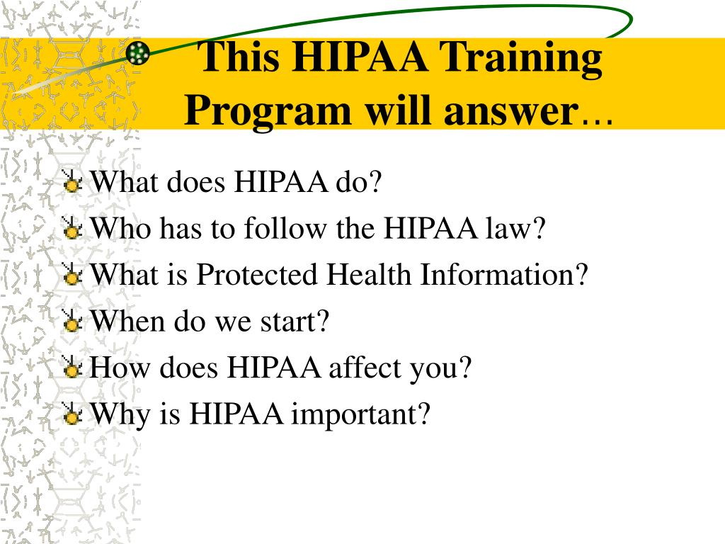This HIPAA Training
