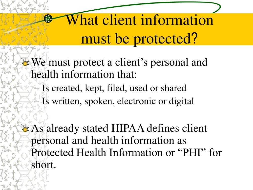 What client information