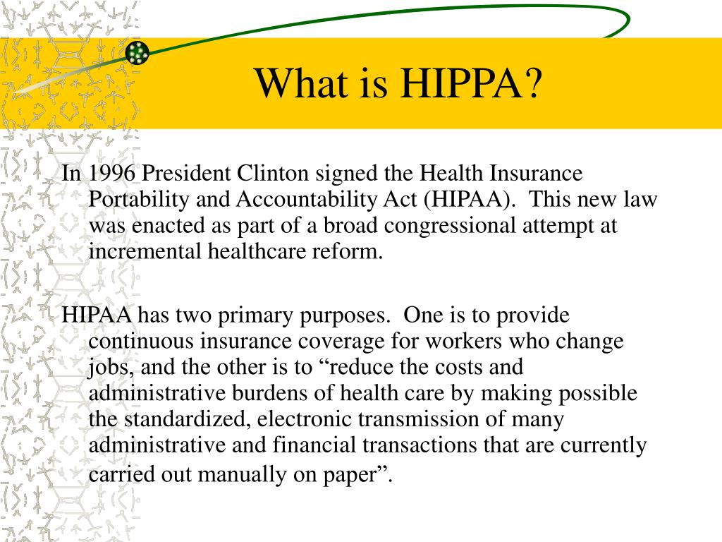 What is HIPPA?