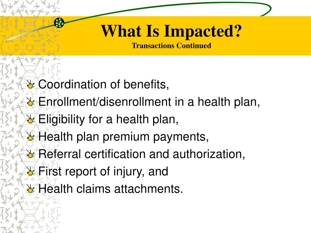 What Is Impacted?