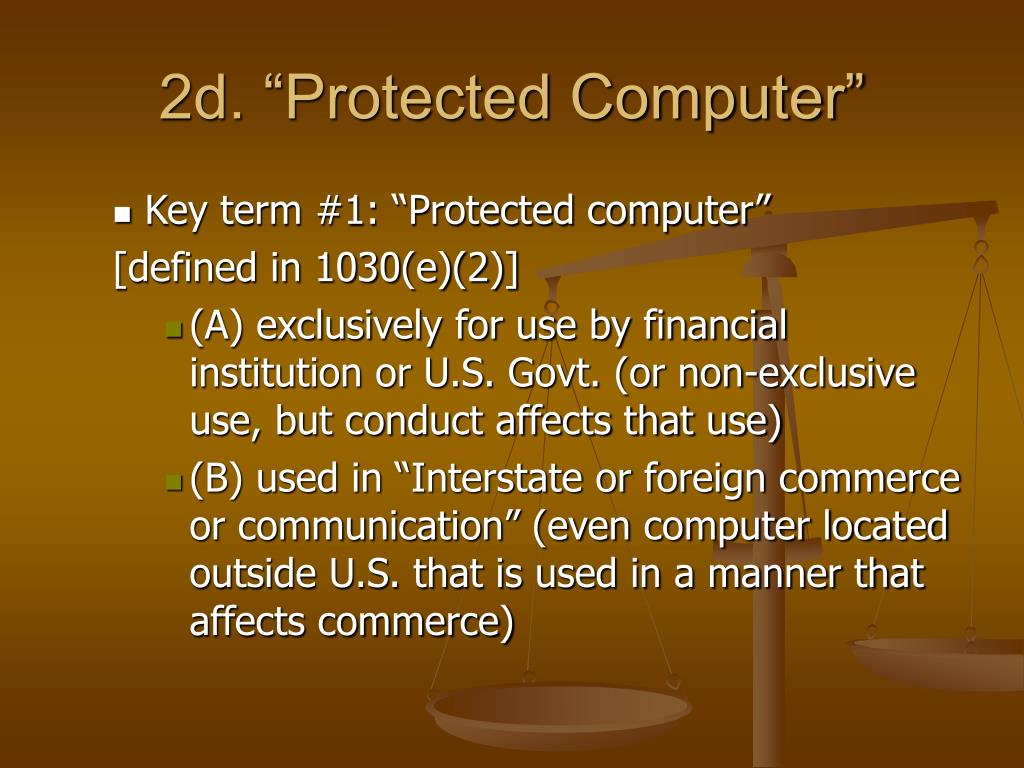 """2d. """"Protected Computer"""""""