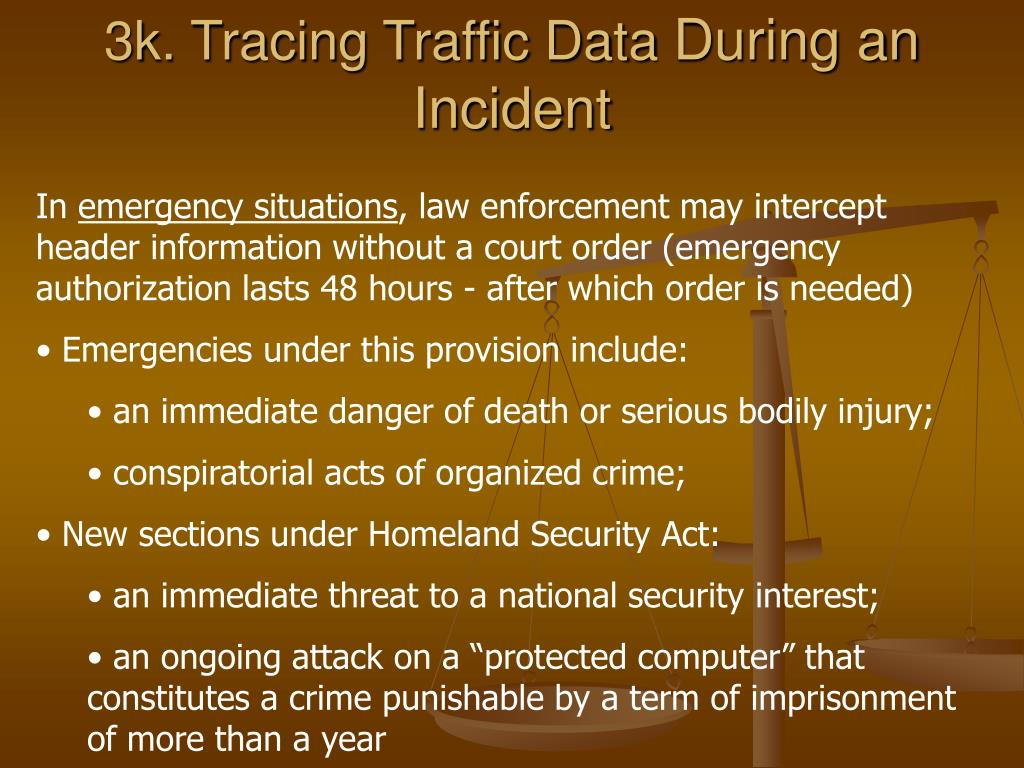 3k. Tracing Traffic Data