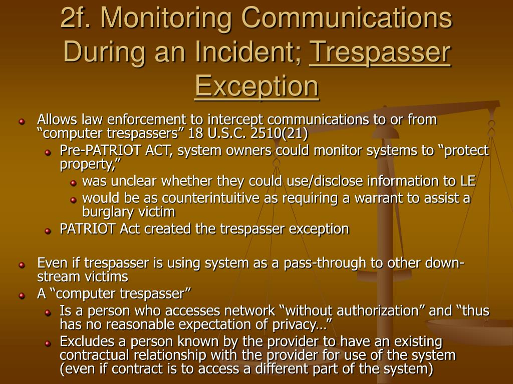 2f. Monitoring Communications During an Incident;