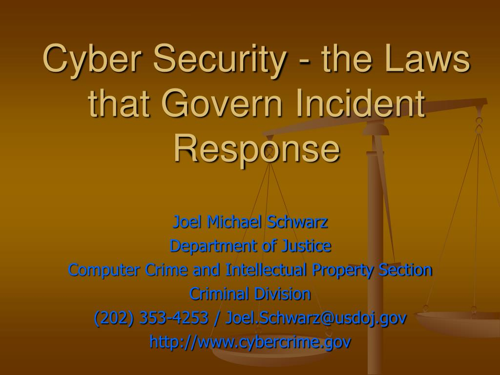 Cyber Security - the Laws that Govern Incident Response